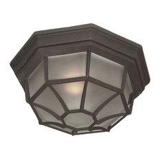 "Woodbridge Lighting 60006 Outdoor Flush Mount, 10.5""x4.75"", Powder Coat Black"