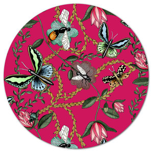 Bugs and Butterflies Cerise Tray, 46 cm