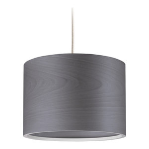 Long Veneli Pendant Light, Dark Grey Ash Veneer