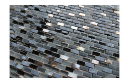 Dal Mare Lava Stone, Glass, and Shell Mosaic Tiles, 10 Square Feet