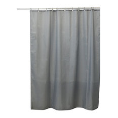 EVIDECO   Design Shower Curtain Polyester Solid Colors With 12 Shower  Rings, Gray   Shower