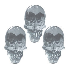 Clear Resin Skull Knobs for Drawers and Cabinet, Angry Face