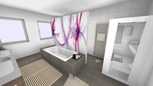 Wandidee für eine T-Lösung im Bad
