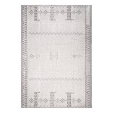 nuLOOM Lowen Tribal Indoor/Outdoor Southwestern Area Rug, Light Gray, 8'x10'