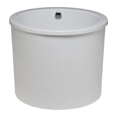 Jacob Tub Only With Integral Drain, White