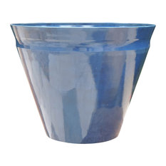 Austram   Nile Marble Planter, Royal Blue, Large   Outdoor Pots And Planters