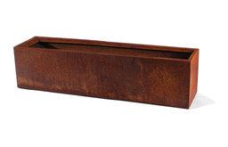 "Metallic Series Corten Steel Window Box Planter, 48"""