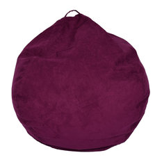 Ace Casual Furniture   Large Microsuede Bean Bag, Purple   Bean Bag Chairs