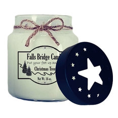 Christmas Tree Scented Jar Candle, 16-Ounce, Star Lid