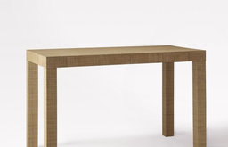 Parsons Desk, Natural Grass Cloth
