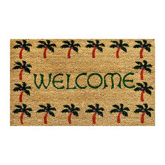 Home and More 12040 Palm Tree Border Welcome Doormat