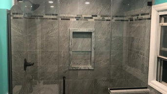 Completed Shower Glass Door Projects