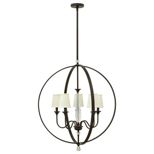 Waverly 5-Light Stem Hung Foyer, Oil Rubbed Bronze