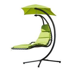 GDF Studio Avera Steel Hanging Lounge Chair, Green