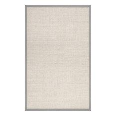 Solid Checker Weave Sisal Area Rug, Gray, 6'x9'