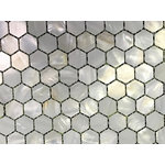 CHOIS - A301 Hexagon Mother Of Pearl Shell Backsplash Mosaic Tiles Home Walls Tile Decor - Note: If you have any concerns that these tiles will not be suitable for your particular application,please buy a sample first to make sure.