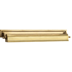 Thomas O'Brien Library 2 Light Picture Light in Hand-Rubbed Antique Brass