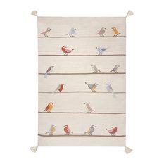 Birds Kilim Children's Rug, 140x200 cm