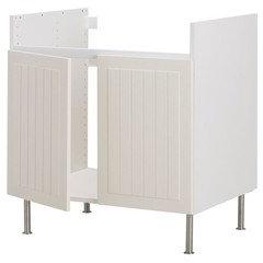 Ikea Akurum kitchen cabinet doors and draws in need of repair.
