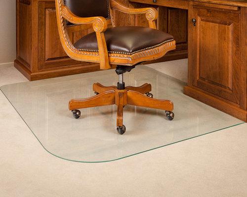 Home Office - Custom Glass Chair Mat - Chair Mats