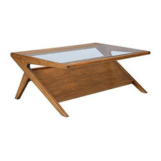 modhaus living mid century modern retro wood coffee occasional table coffee tables