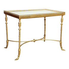George N Antiques   Brass And Marble Cocktail Table   Coffee Tables