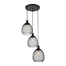 Loft Grille Kitchen Island Pendant Light, 3 Lights