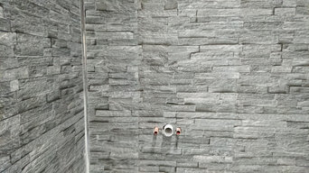 Bathroom installation with 3D cladding
