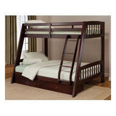 Hillsdale Furniture - Hillsdale 1668BB Rockdale Bunk Bed, Twin over Full, Espresso - Bunk Beds