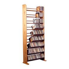 Hill Wood Shed LLC - Cd Rack, Honey - Media Racks and Towers