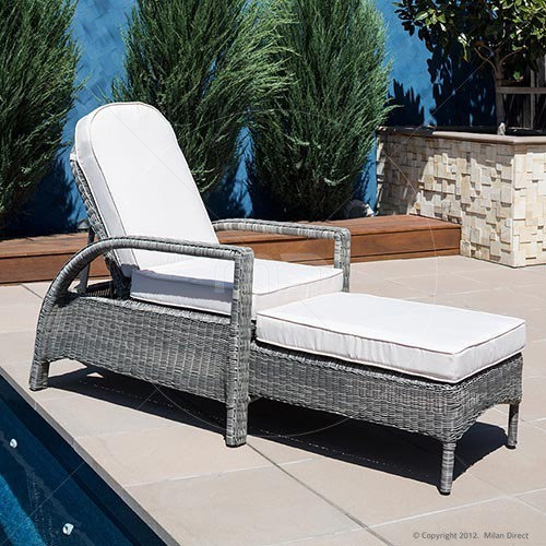 Noosa Sun Lounge Outdoor Rattan Wicker Patio Furniture And Outdoor