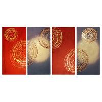 "Unite the Swirls Canvas Wall Art, 40""x80"", 4 Piece Set"