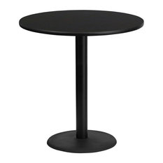 """Dyersburg 42"""" Round Black Laminate Table Top With 42"""" Round Base"""