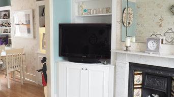 Traditional Alcove Corner Cabinets