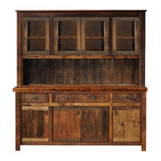 "Barnwood 75""Buffet and Hutch, Antique Oak Top and Artisan Top, Antique Oak Top"