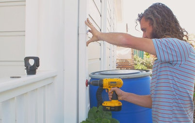 Houzz TV: How to Install a Rain Barrel