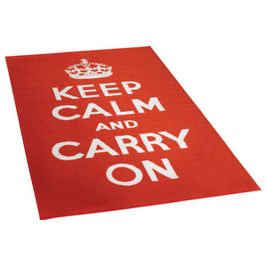 Carry On Rug, Red and White, 100x160 cm