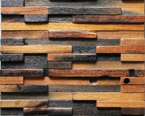 Ancient wood mosaic tile backsplash natural wood mosaic pattern NWMT022 - Mosaic  Tile - Ancient Wood Mosaic Tile Backsplash Natural Wood Mosaic Pattern
