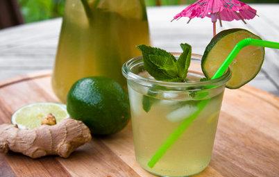 Aux fourneaux : Du thé glacé au citron vert, gingembre et menthe