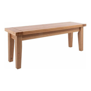 Traditional Dining Bench in Solid Wood, Light Oak Finished