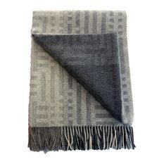 100% Baby Alpaca Throw Blanket, Our Beautiful Patchwork Pattern Throw / Afghan