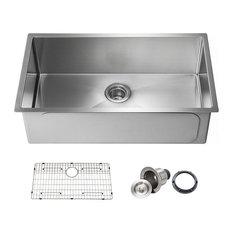 KIBI Handcrafted Undermount Single Bowl 16 gauge Stainless Steel Kitchen Sink, 3