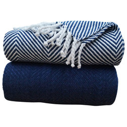 Contemporary Throws by LJ Linens LLC
