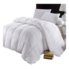 abripedic solid white 600tc siberian goose down comforter 100 cotton700fp - Down Comforter Queen