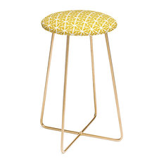 Deny Designs Heather Dutton Diamante Gold Counter Stool