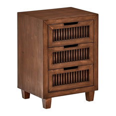 Transitional Cabinet Solid Ashwood With 3-Drawers For Additional Storage