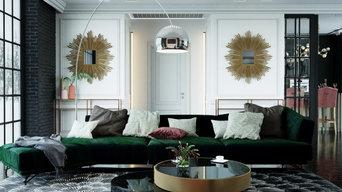 Дизайн гостиной в загородном доме. г. Тула