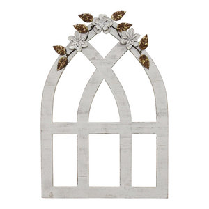 Stratton Home Decor White Metal Flower Farmhouse Metal Wall Art By Stratton Home Decor