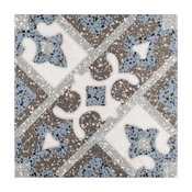 "9.88""x9.88"" Palo Palazzo Porcelain Floor and Wall Tile, Capri, Set of 16"