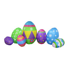 Long Easter Inflatable 7 Easter Eggs, 8'